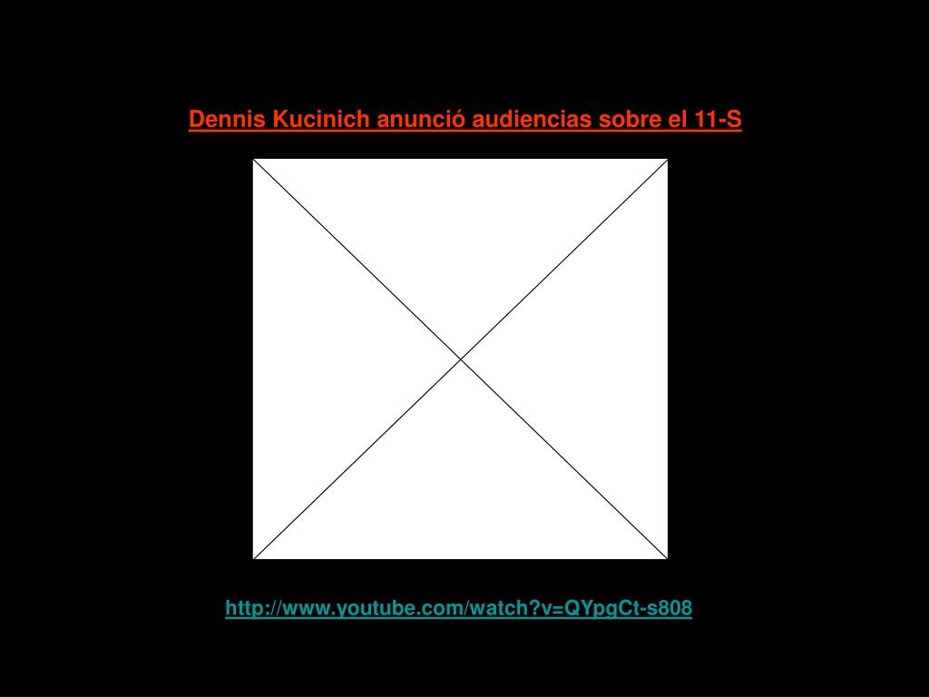 Dennis Kucinich anunció audiencias sobre el 11-S