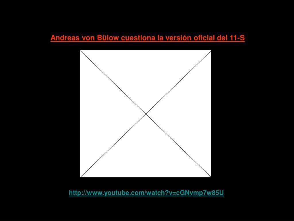 Andreas von Bülow cuestiona la versión oficial del 11-S