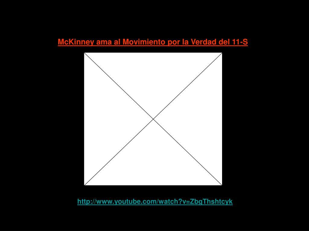 McKinney ama al Movimiento por la Verdad del 11-S