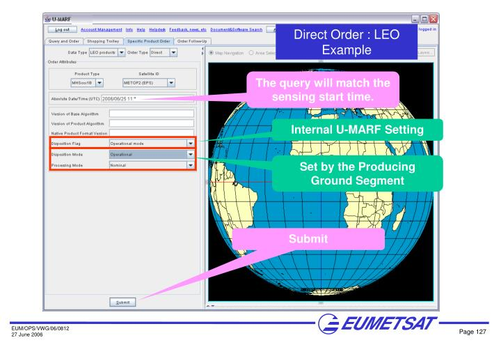 Direct Order : LEO Example