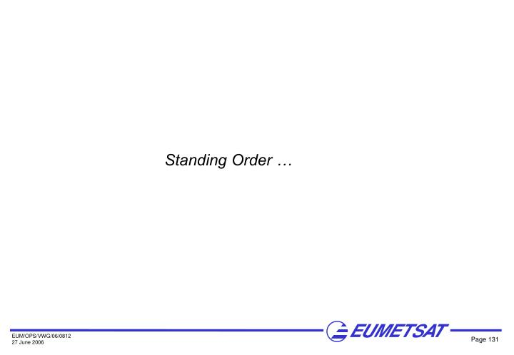 Standing Order …