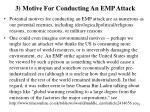 3 motive for conducting an emp attack