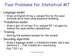four problems for statistical mt