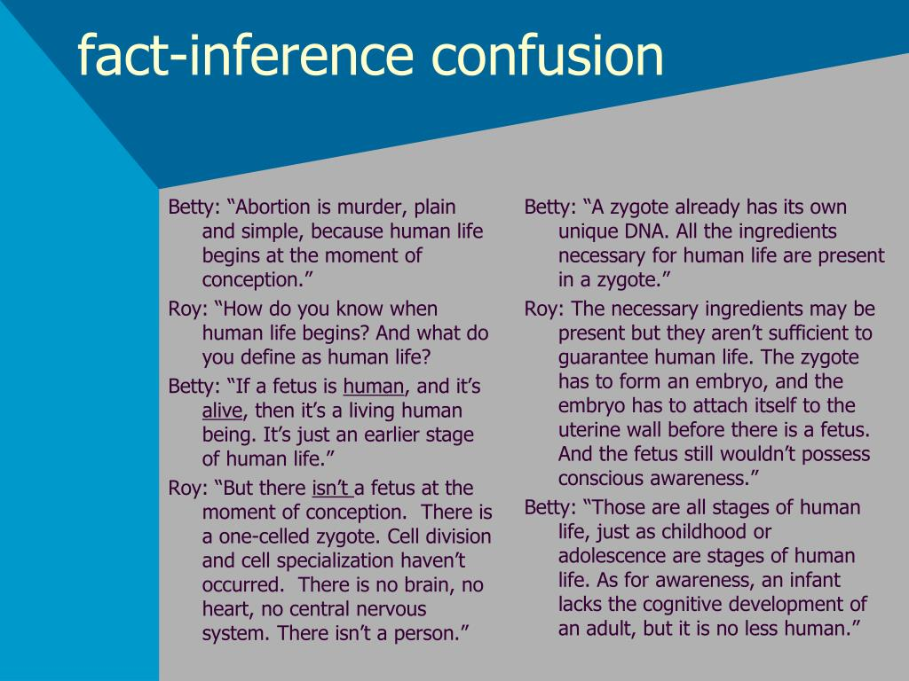fact-inference confusion