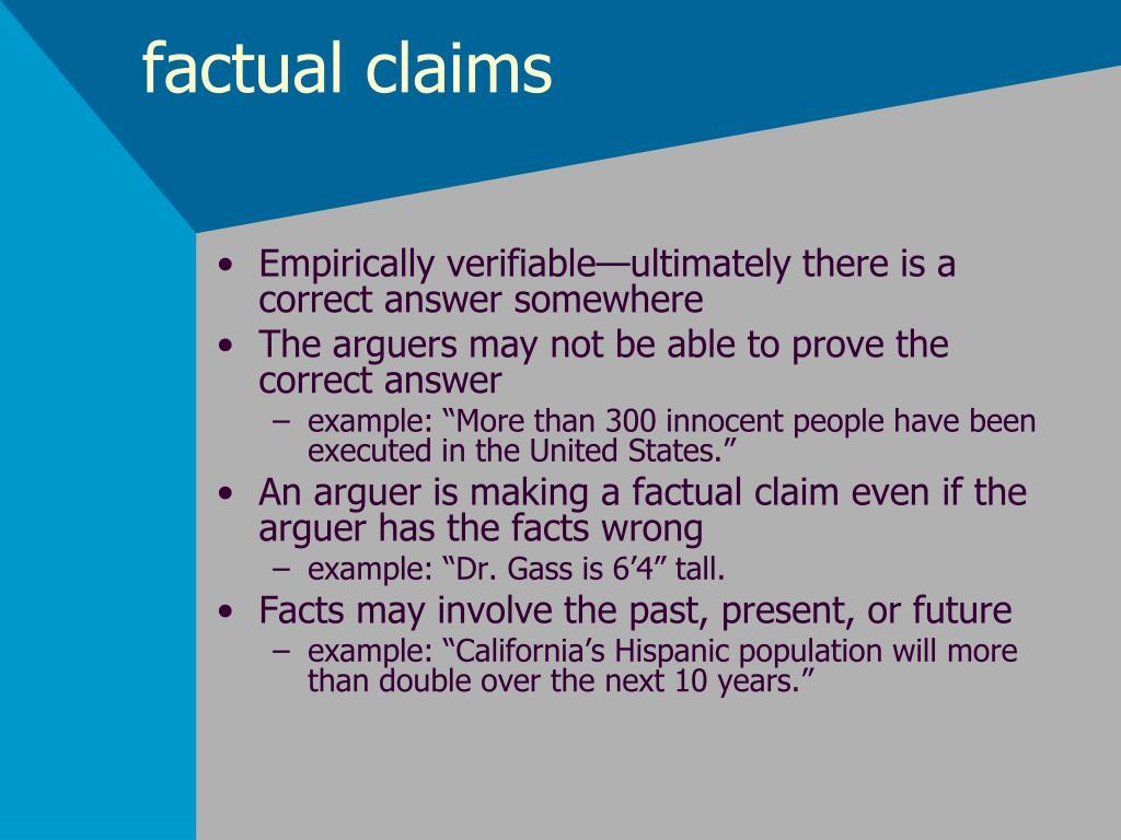 factual claims