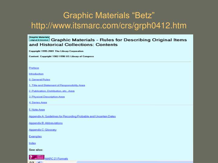 "Graphic Materials ""Betz"""