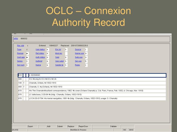 OCLC – Connexion