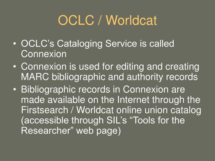 OCLC / Worldcat