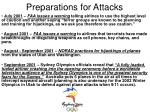 preparations for attacks18