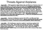 threats against airplanes13