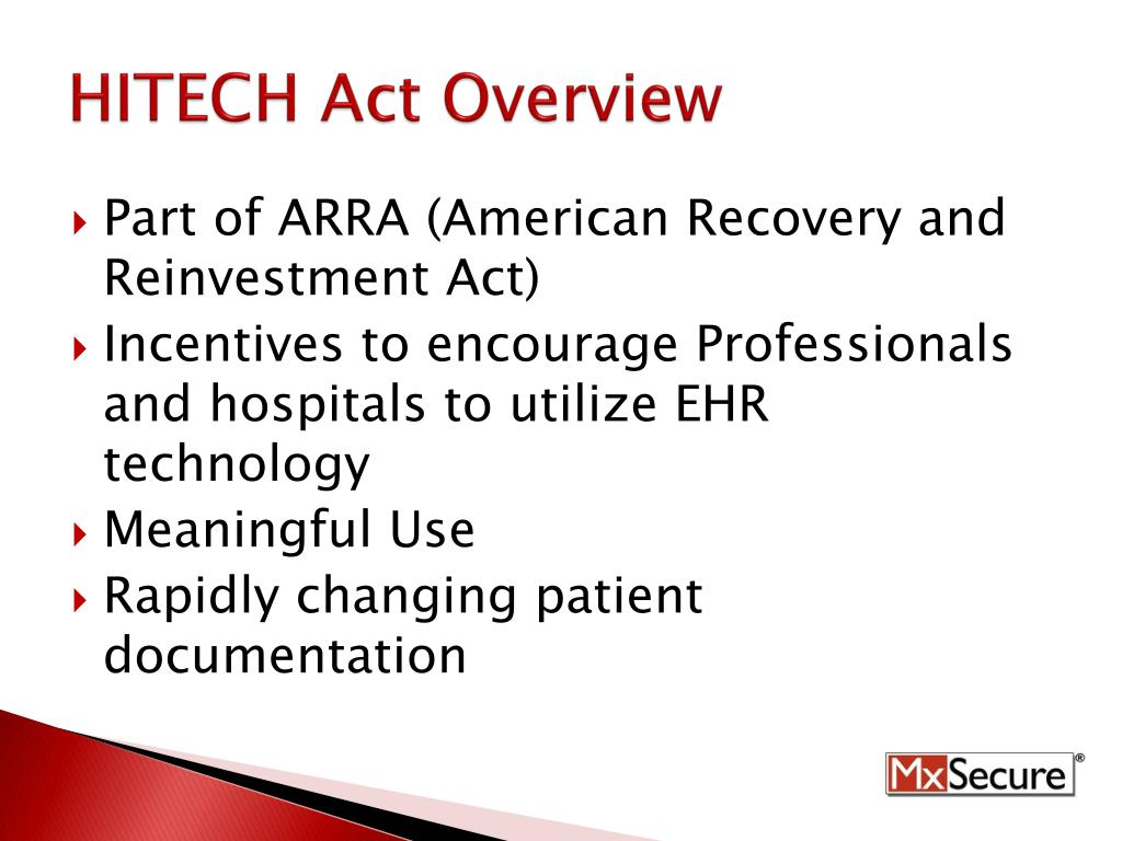 HITECH Act Overview