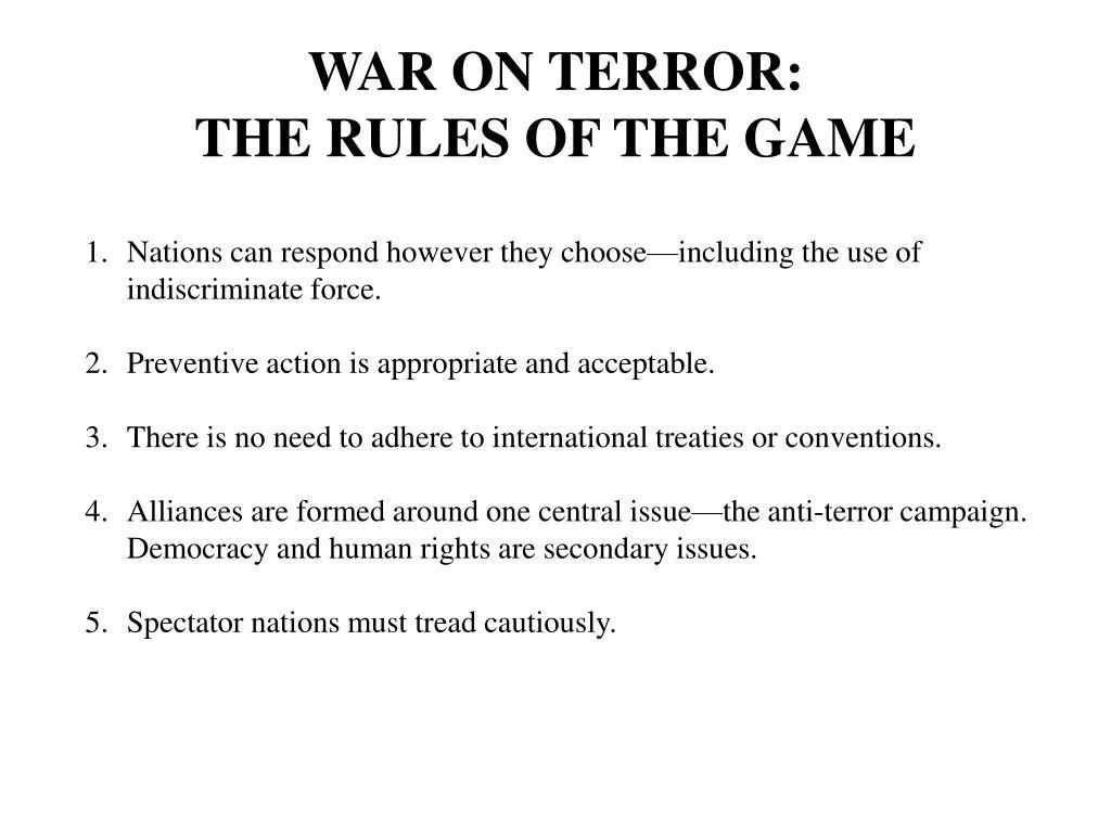WAR ON TERROR: