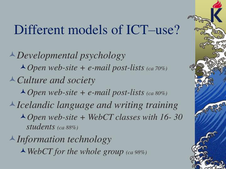 Different models of ICT–use?
