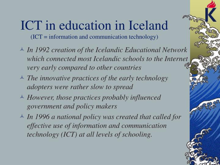 ICT in education in Iceland