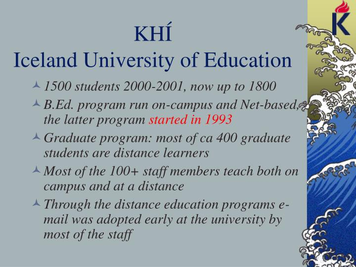 Kh iceland university of education