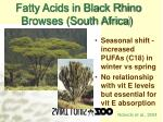 fatty acids in black rhino browses south africa