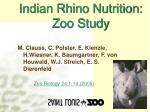 indian rhino nutrition zoo study