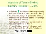 induction of tannin binding salivary proteins cont