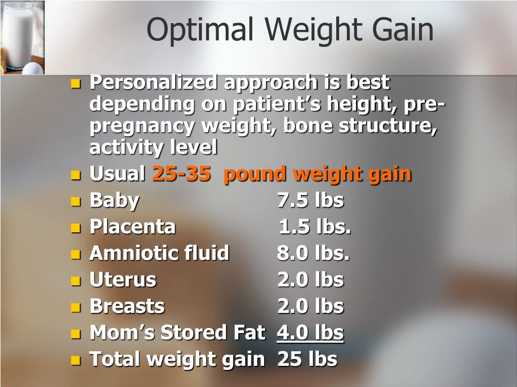 Optimal Weight Gain