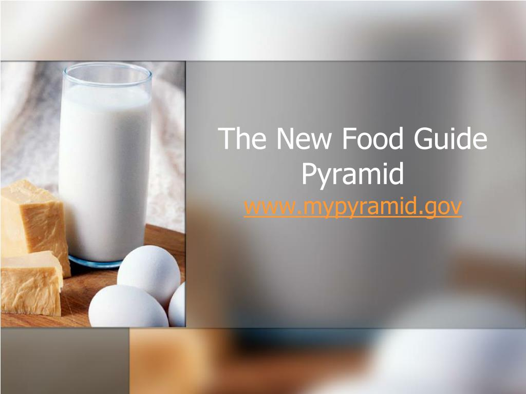 The New Food Guide Pyramid