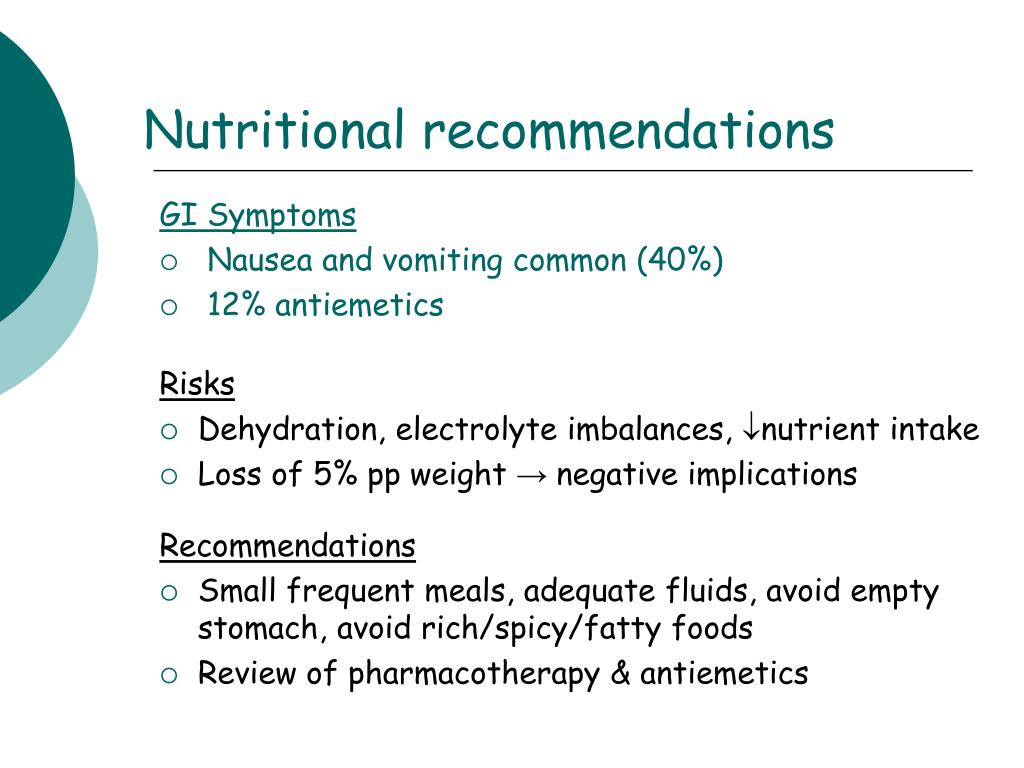 Nutritional recommendations