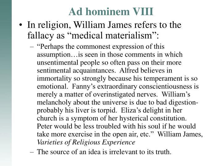 Ad hominem VIII