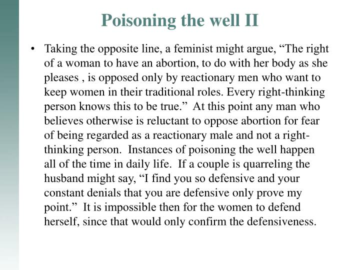 Poisoning the well II