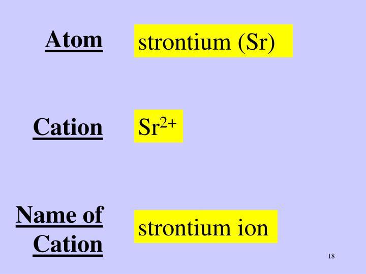 strontium (Sr)