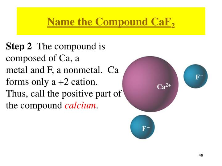 Name the Compound CaF