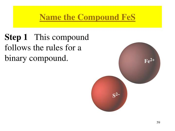 Name the Compound FeS