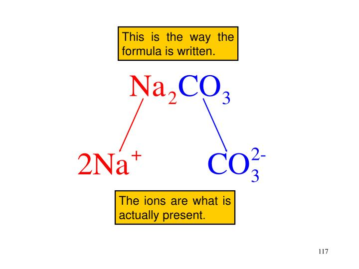The ions are what is