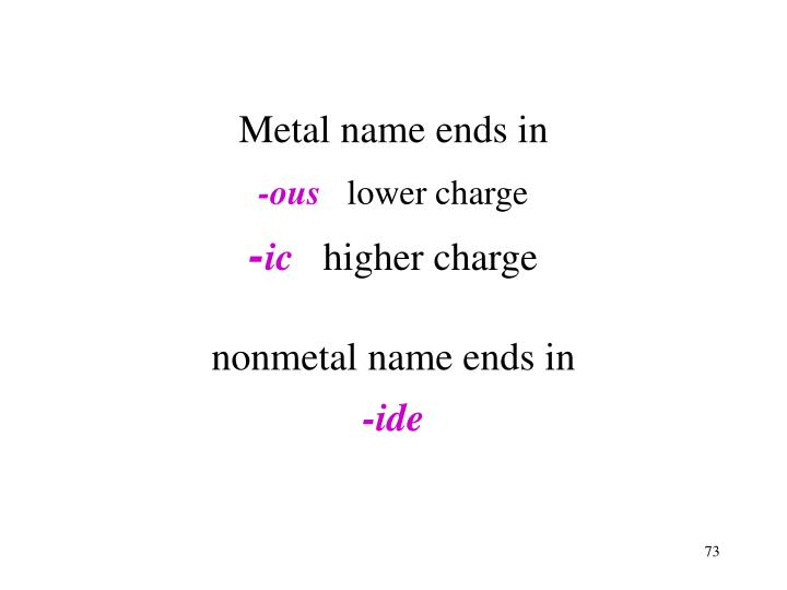 Metal name ends in