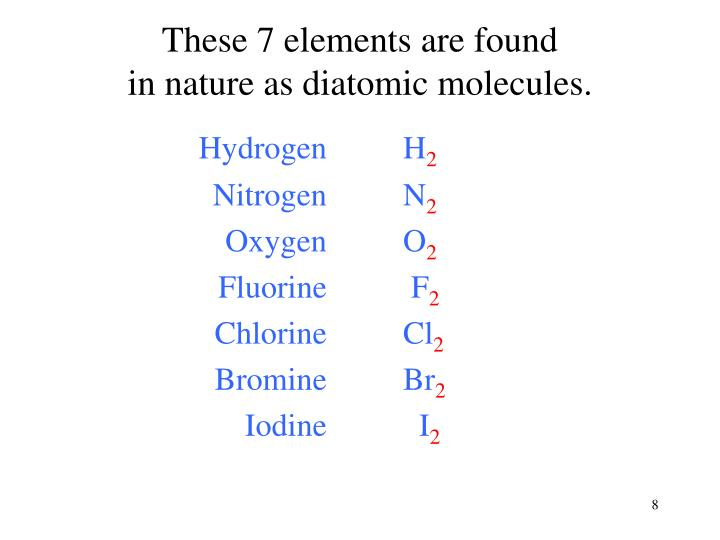These 7 elements are found
