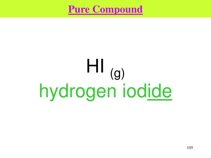 Pure Compound