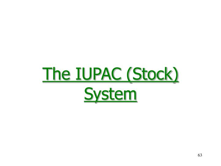 The IUPAC (Stock)