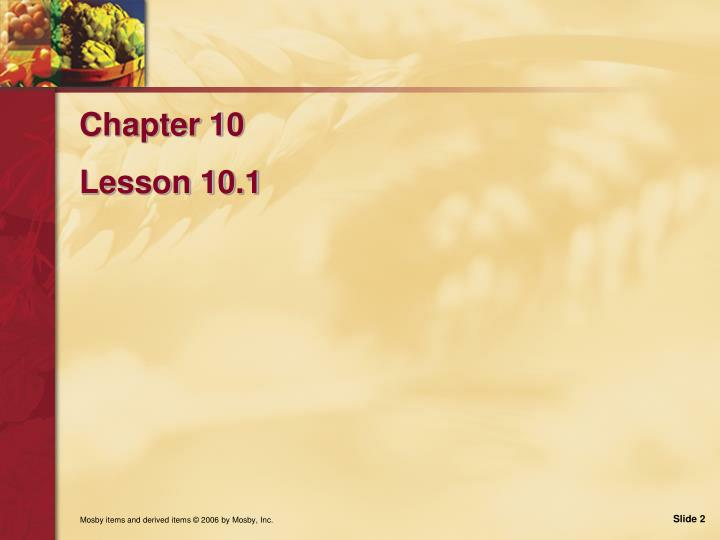 Chapter 10 lesson 10 1