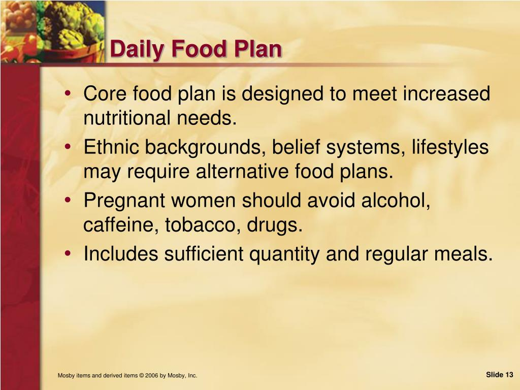 Daily Food Plan