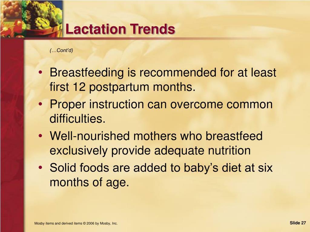 Lactation Trends