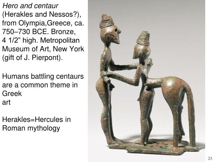 Hero and centaur