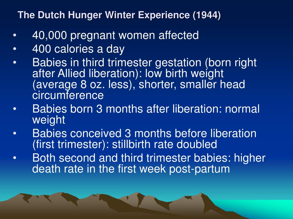 The Dutch Hunger Winter Experience (1944)