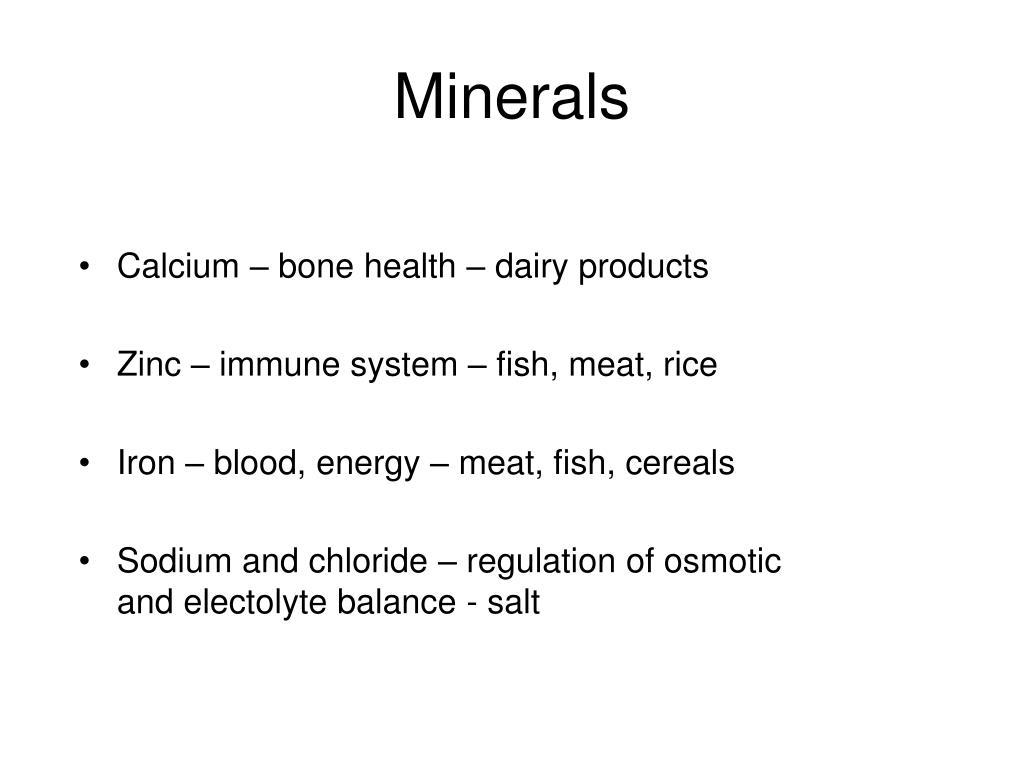 Calcium – bone health – dairy products