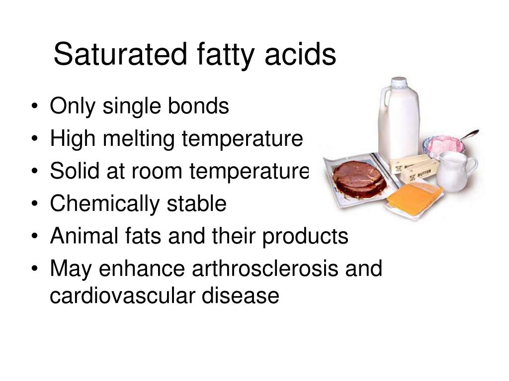 Saturated fatty acids