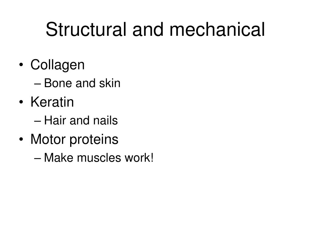 Structural and mechanical