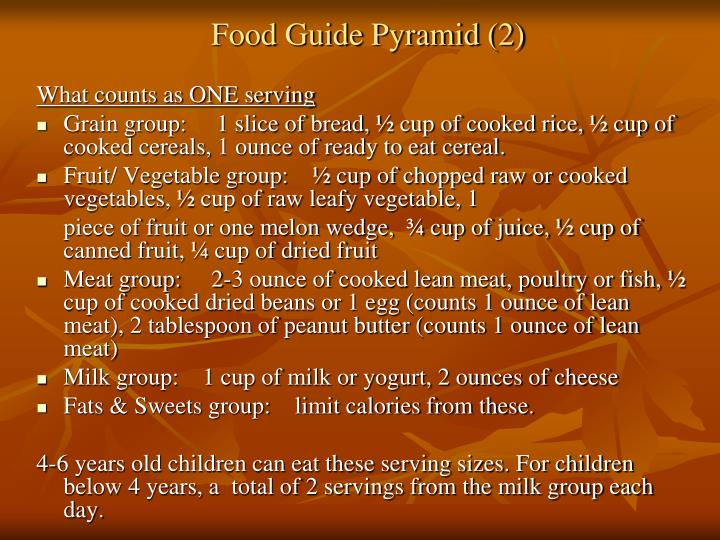Food guide pyramid 2