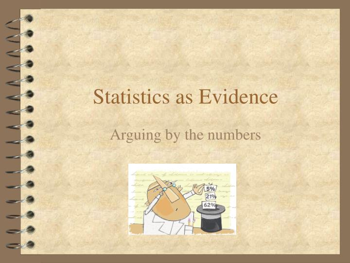 Statistics as evidence