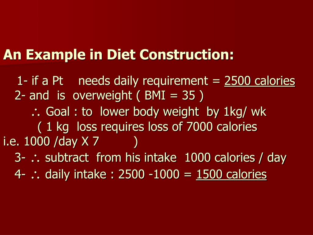 An Example in Diet Construction:
