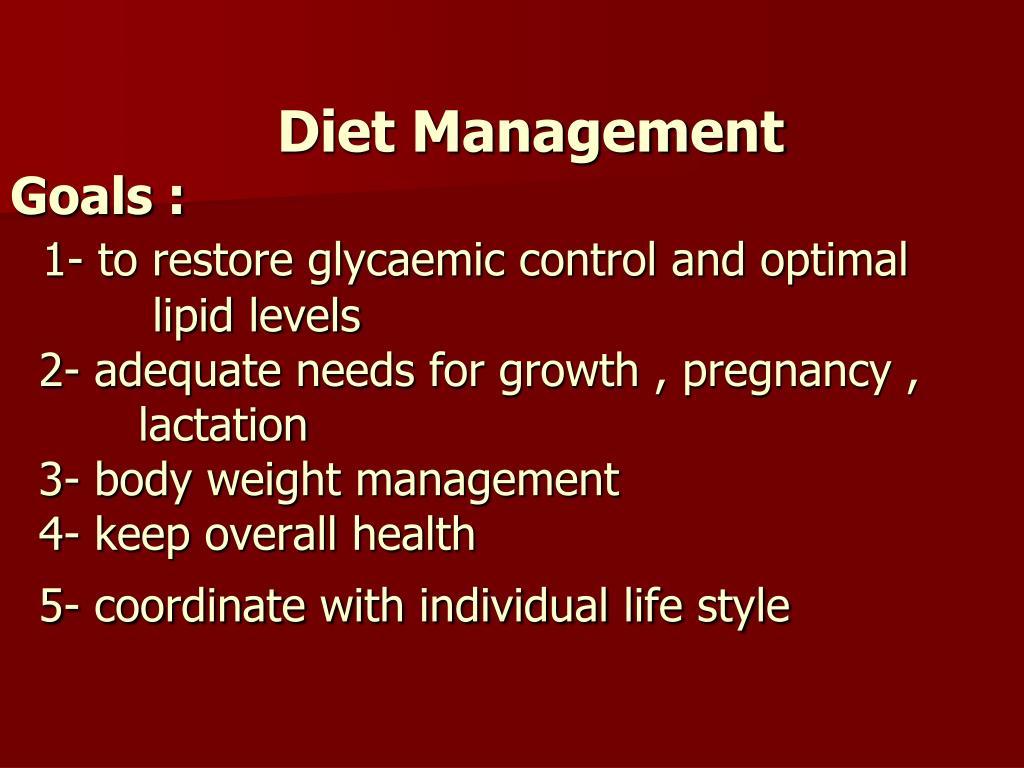 Diet Management