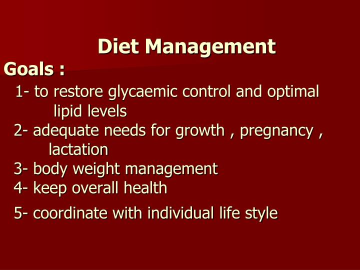 Diet Management