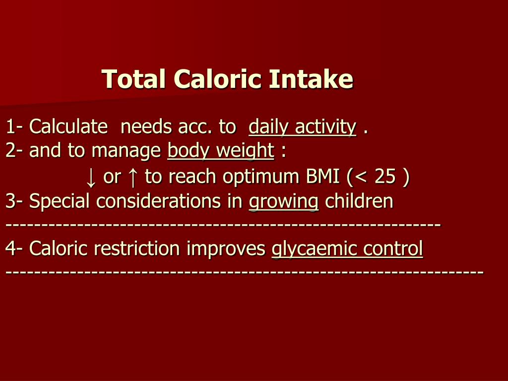 Total Caloric Intake