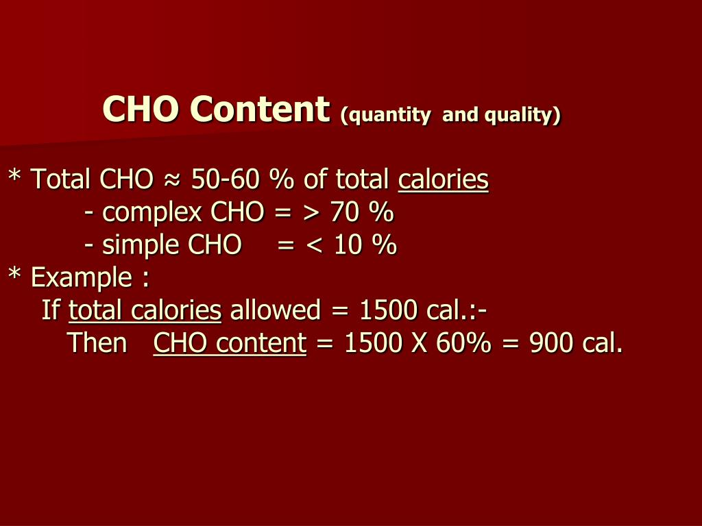 CHO Content